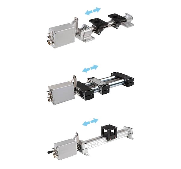 Verschillende modellen RK Rose+Krieger lineair units met verstelmotor