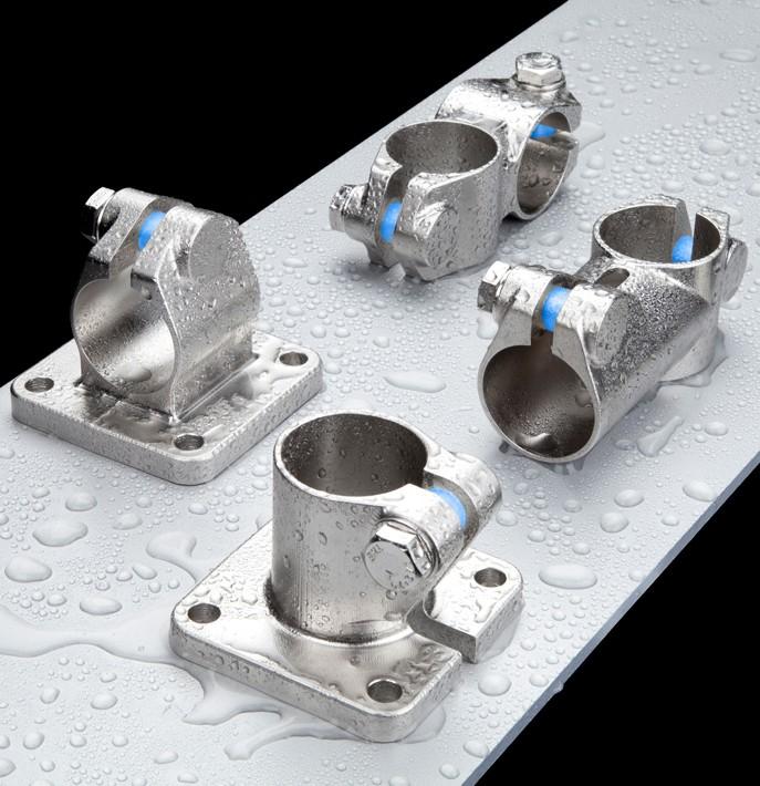 RK Rose+Krieger Robust Clamps (RVS) buisverbinders water