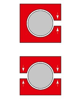 RK Rose+Krieger Solid Clamps (aluminium) buisverbinders type